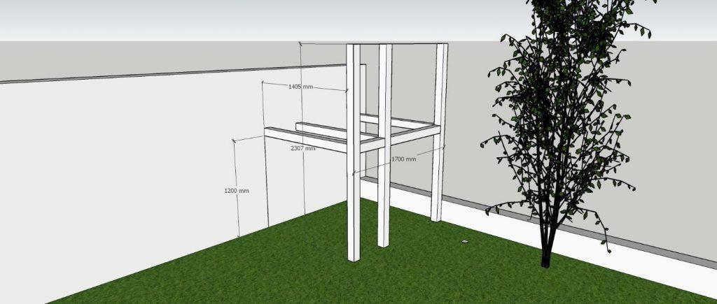 הסבר תשתית בניית בית עץ בהרכבה עצמית.