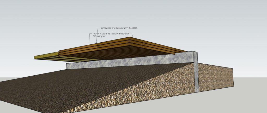 תכנית מפורטת להקמת דק מרחף-2 הדמיה
