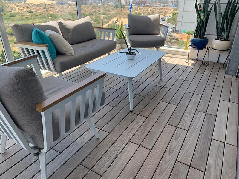 אריחי דק למרפסת תרמי בתל אביב